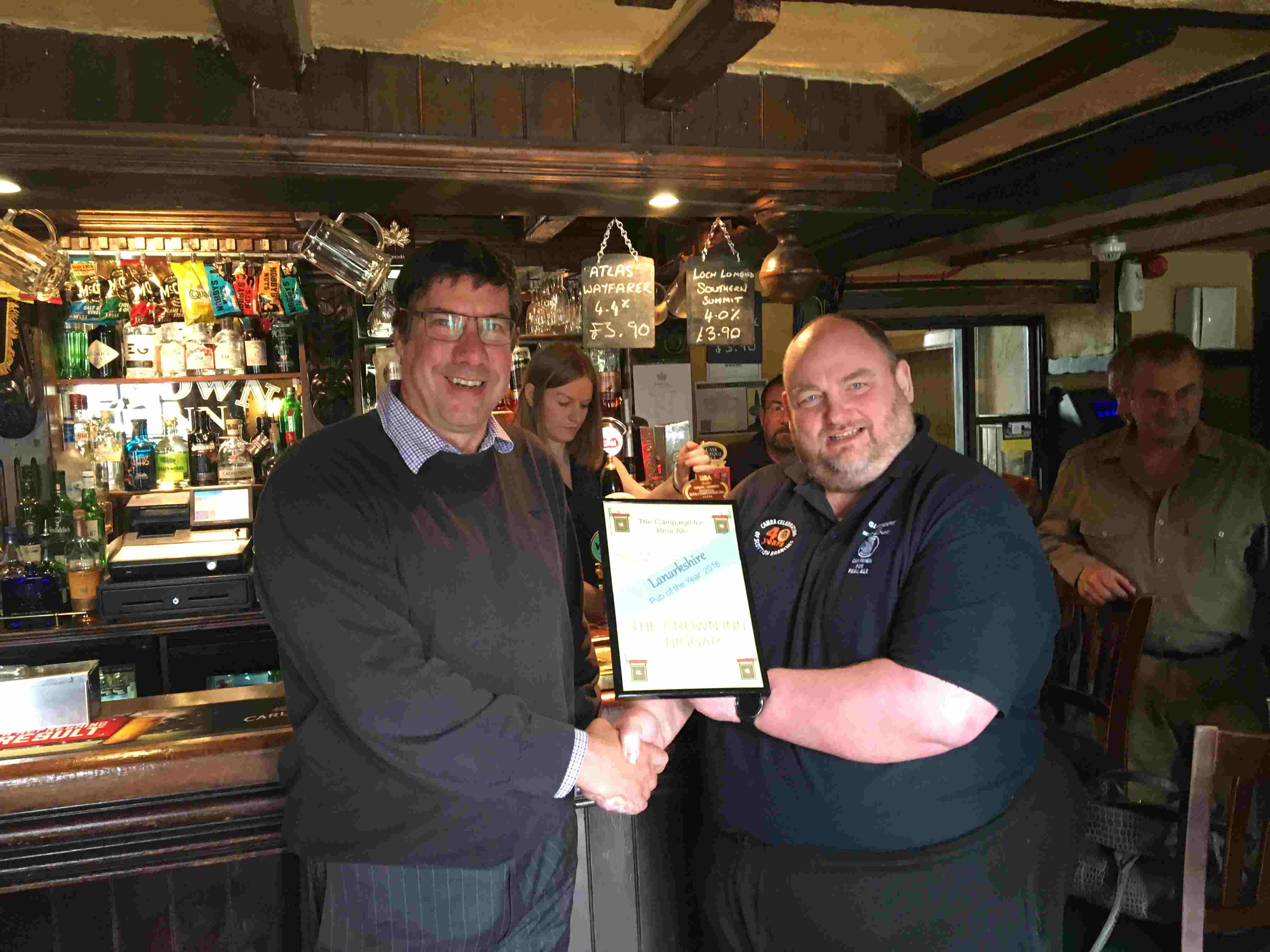 2016 Lanarkshire Pub of the Year